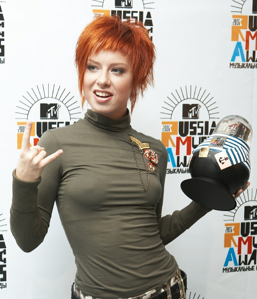 Yulia Savicheva at the MTV Russia Music Awards