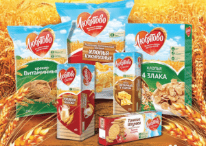 Russian Brands Lubyatovo Cereal and Cookies
